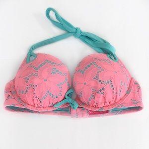 VS SWIM Georgeous Lace Push Up Bikini Top 34A